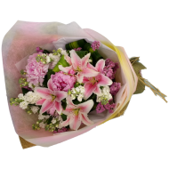 Pink Lily Flowers Bouquet