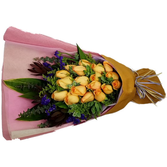 18pcs Orange Color Roses Bouquet Valentines Day