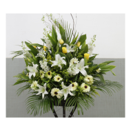 Sympathy Flowers arrangement