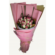 One and a half dozen Milk Pink Roses Bouquet