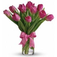 Valentine Precious Pink Tulips