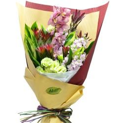 Holland Pink Color Cymbidium Bouquet