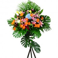 Flower arrangement for Grand Opening