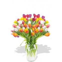 30pcs Large Mixed Color Tulips Bouquet