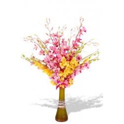 15 Mixed Dendrobium Orchids Vase Bouquet
