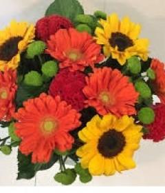 Gerbera Bouquet & Sun Flowers